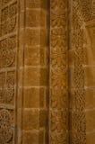Ornamento siriaco della parete alla parete di Mor Gabriel Monastery Fotografia Stock