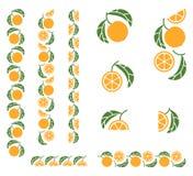 Ornamento spezzettato colorato frutta arancio Fotografie Stock Libere da Diritti