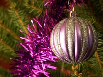 Ornamento sull'albero di Natale Fotografie Stock