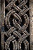 Ornamento sulla pietra, parte di khachkar Immagini Stock