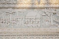 Ornamento tailandese di stile in tempio Fotografia Stock Libera da Diritti