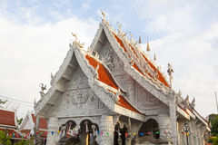 Ornamento tailandese di stile in tempio Fotografie Stock Libere da Diritti