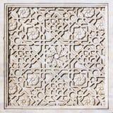 Ornamento tallado en el azulejo de mármol Fotografía de archivo libre de regalías