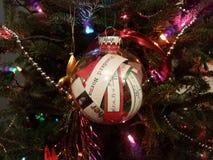 Ornamento temático do Natal da probabilidade e das estatísticas na árvore imagem de stock