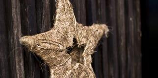 Ornamento tessuto della stella di natale Fotografia Stock Libera da Diritti