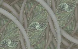 Ornamento textured abstrato da espiral 3d Textura do Fractal Para convites, tampas do caderno, caixa do telefone, cartão, cartões ilustração do vetor