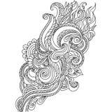 Ornamento tirado mão com teste padrão floral Imagem de Stock Royalty Free