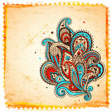 Ornamento étnico de paisley Imagens de Stock Royalty Free