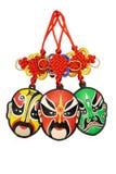 Ornamento tradicionais chineses da máscara da ópera do ano novo Imagem de Stock