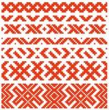 Ornamento tradicional Belorussian dos Imagen de archivo