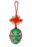 Ornamento tradicional chinês da máscara da ópera do ano novo Fotografia de Stock