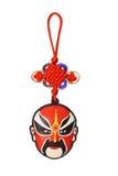 Ornamento tradicional chinês da máscara da ópera do ano novo Foto de Stock Royalty Free