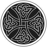 Ornamento tradicional de la cruz céltica del vector Fotografía de archivo libre de regalías