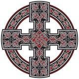 Ornamento tradicional de la cruz céltica del vector Imagen de archivo