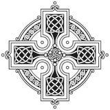 Ornamento tradicional de la cruz céltica del vector Fotos de archivo libres de regalías
