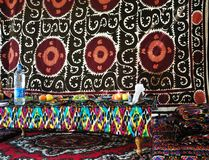 Ornamento tradicional del Uzbek Imagenes de archivo