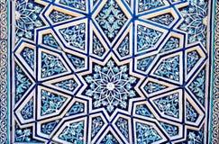 Ornamento tradicional del uzbek de cerámica Fotografía de archivo libre de regalías