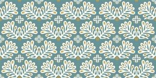 Ornamento tradicional del vector en estilo escandinavo Flores y plantas estilizadas libre illustration