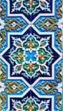 Ornamento tradicional do uzbek cerâmico Fotos de Stock