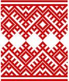 Ornamento tradicional esloveno del modelo Fondo Modelo bielorruso Imágenes de archivo libres de regalías