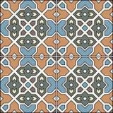 Ornamento tradicional espanhol, teste padrão sem emenda mediterrâneo, projeto da telha Imagem de Stock