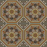 Ornamento tradicional espanhol, teste padrão sem emenda mediterrâneo, projeto da telha Foto de Stock Royalty Free