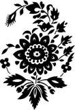 Ornamento tradizionale del fiore Fotografie Stock Libere da Diritti
