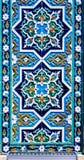 Ornamento tradizionale dell'Uzbeco ceramico Fotografia Stock