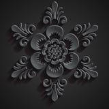 Ornamento tradizionale di balinese Fiore di pietra Illustrazione Vettoriale