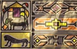 Ornamento tradizionale tribale africano della casa, modello Fotografia Stock Libera da Diritti