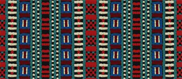 Ornamento tribal do vetor Teste padrão africano sem emenda Tapete étnico com vigas Estilo asteca ilustração do vetor