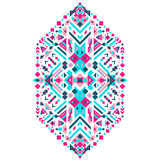 Ornamento tribal mexicano Impresión étnica para el diseño, moda, ropa, bordado, banderas, carteles, tarjetas, fondos Imagen de archivo libre de regalías
