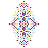 Ornamento tribal mexicano y africano Impresión étnica del vector Fotografía de archivo