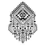 Ornamento tribal mexicano y africano Impresión étnica del vector Fotografía de archivo libre de regalías