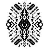 Ornamento tribal mexicano y azteca Vector Imágenes de archivo libres de regalías