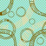 Ornamento tribale dei cerchi Fotografie Stock