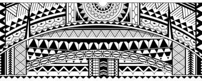 Ornamento tribale della manica del tatuaggio illustrazione vettoriale