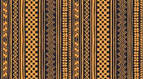 Ornamento tribale di vettore Reticolo africano senza giunte Tappeto etnico con i galloni e le strisce royalty illustrazione gratis