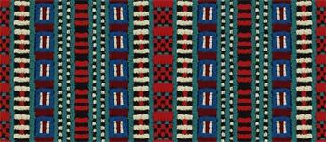 Ornamento tribale di vettore Reticolo africano senza giunte Tappeto etnico con i galloni Stile azteco illustrazione vettoriale