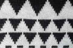 Ornamento tricottante in bianco e nero Immagine Stock