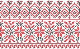 Ornamento ucraniano - cruz-puntada en un blanco Fotos de archivo libres de regalías