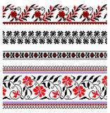 Ornamento ucraniano del bordado Fotografía de archivo