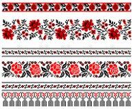 Ornamento ucraniano del bordado Imagen de archivo libre de regalías