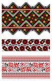 Ornamento ucraniano del bordado Fotos de archivo libres de regalías