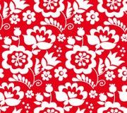 Ornamento ucraniano europeo tradicional del color rojo r stock de ilustración