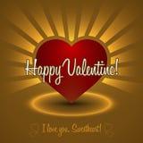 Ornamento Valentine Greetings Card Elementi di vettore Progettazione decorativa isolata del cuore EPS10 Immagine Stock Libera da Diritti