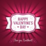 Ornamento Valentine Greetings Card Elementi di vettore Progettazione isolata di celebrazione di amore EPS10 Immagini Stock