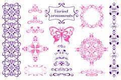 Ornamento variados da magnólia ilustração stock