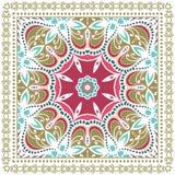 Ornamento variopinto decorativo su un fondo bianco Immagine Stock Libera da Diritti