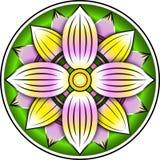 Ornamento variopinto di Lotus Fotografia Stock Libera da Diritti